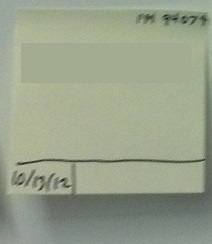 Example: a work item on a Kanban board with the start time marked
