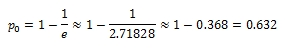 "The formula to calculate the ""magic point"": 1 minus 1 over e (where e=2.71828) equals approximately 0.63"